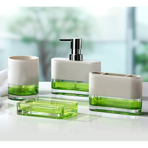 Lime green bathroom accessories
