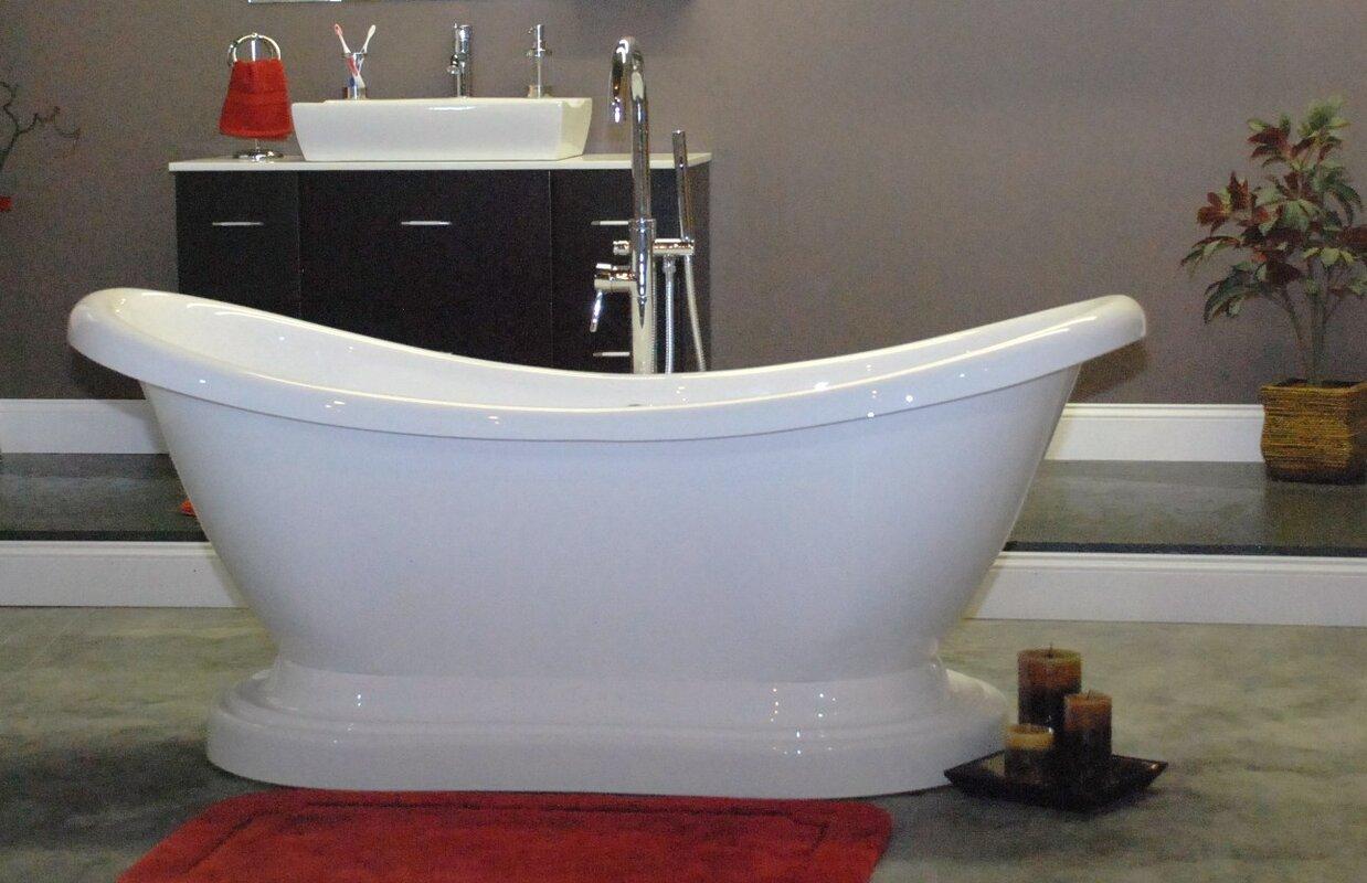 RDS551MRM Empress 68 x 30 Freestanding Soaking Bathtub ...