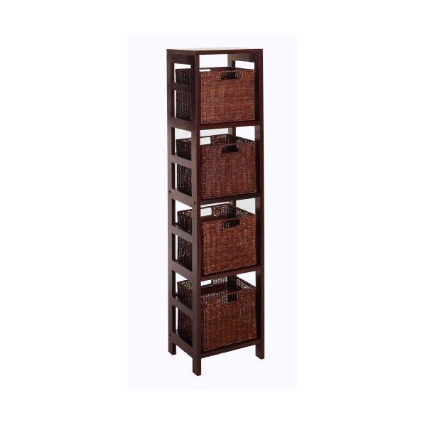 20 Beautiful Black Bookcase with Baskets  guiadokartingeu