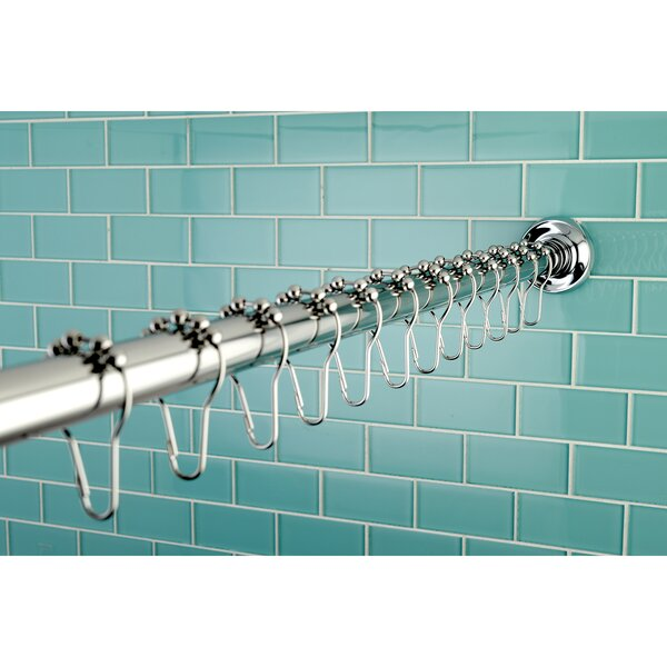 Straight shower curtain rod