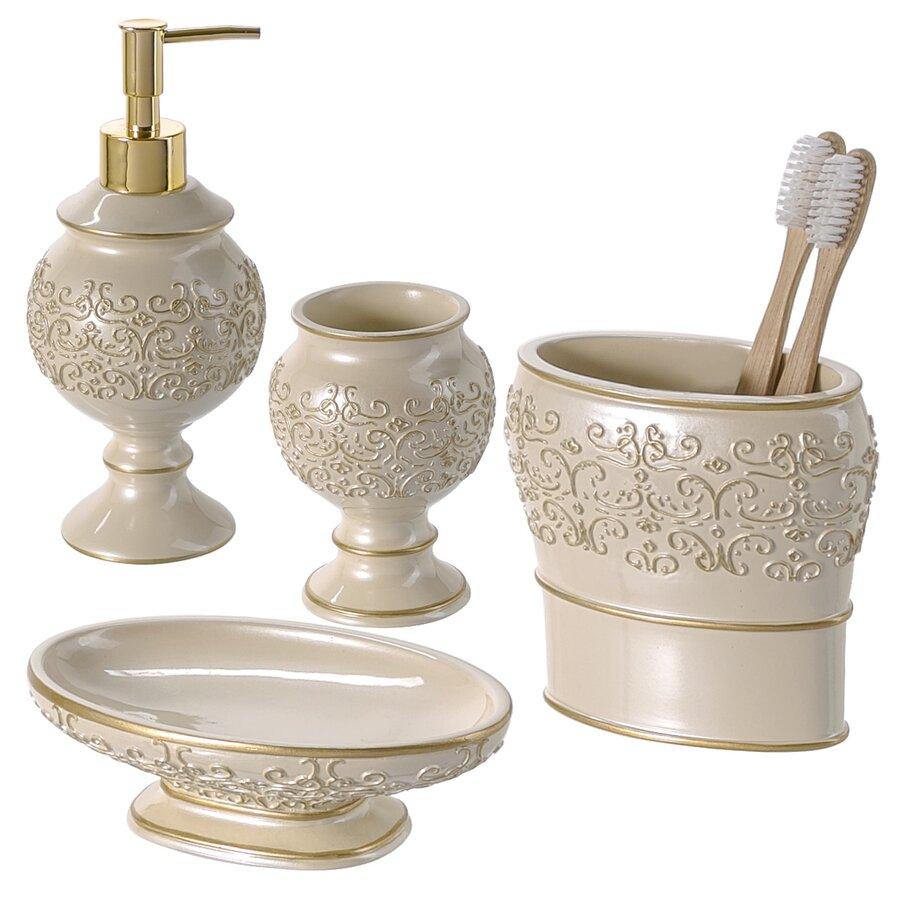 Bathroom vanity accessory sets
