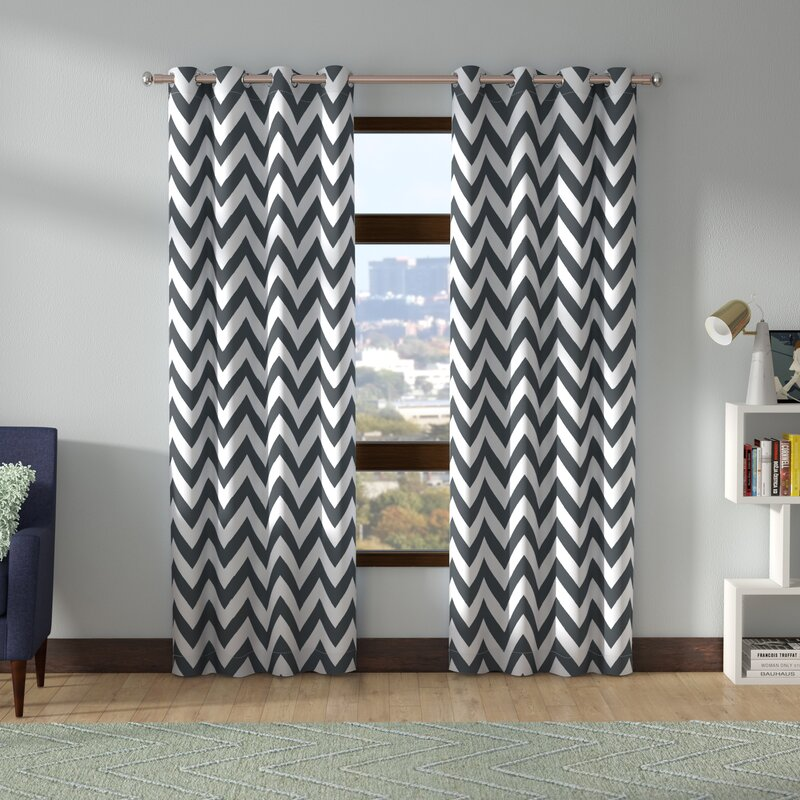 Blackout curtains chevron