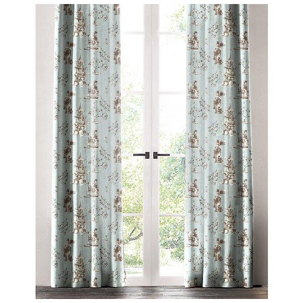 Toile curtain panels