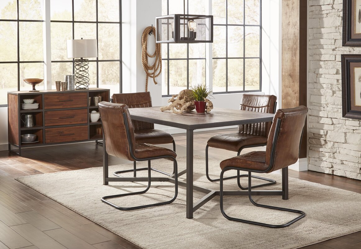 Best Price Lane Genuine Leather Upholstered Dining