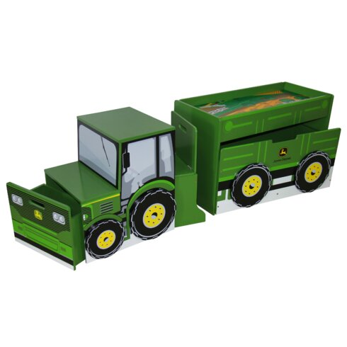 john deere tractor toy box set & reviews | wayfair