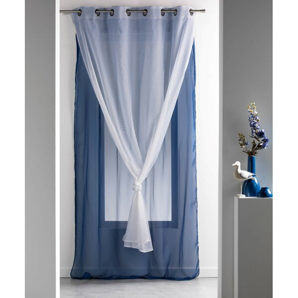 Blue curtain panel