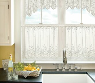 Amazoncom Lazzzy Open Weave Sheer Curtains Living Room