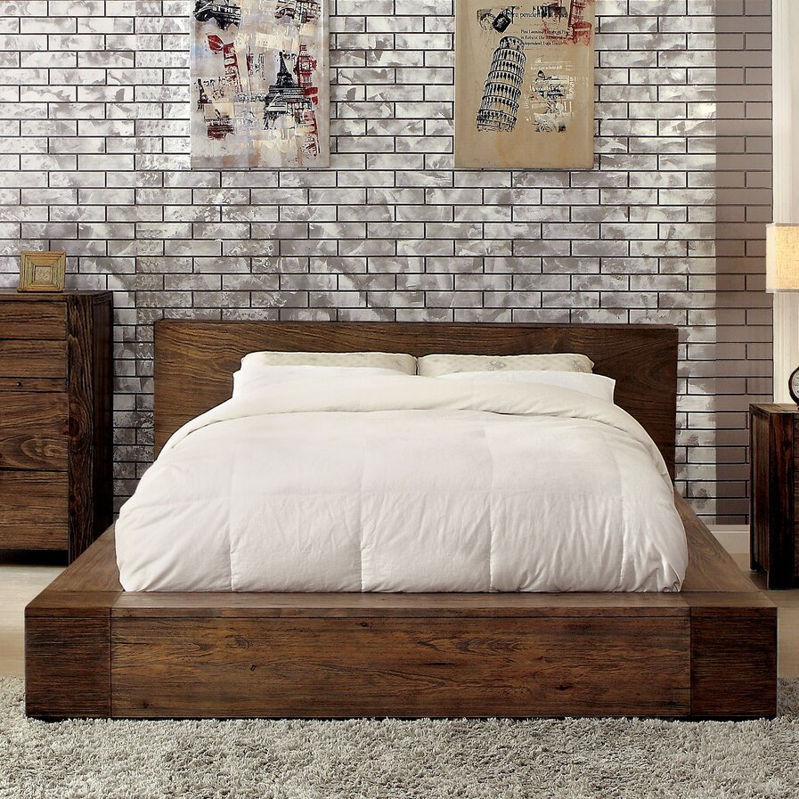 Brown King Bed Frames Youll Love  Wayfair