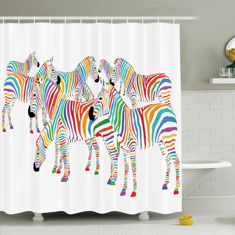 Zebra shower curtain