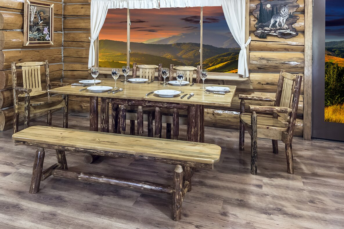 Rustic wooden dining