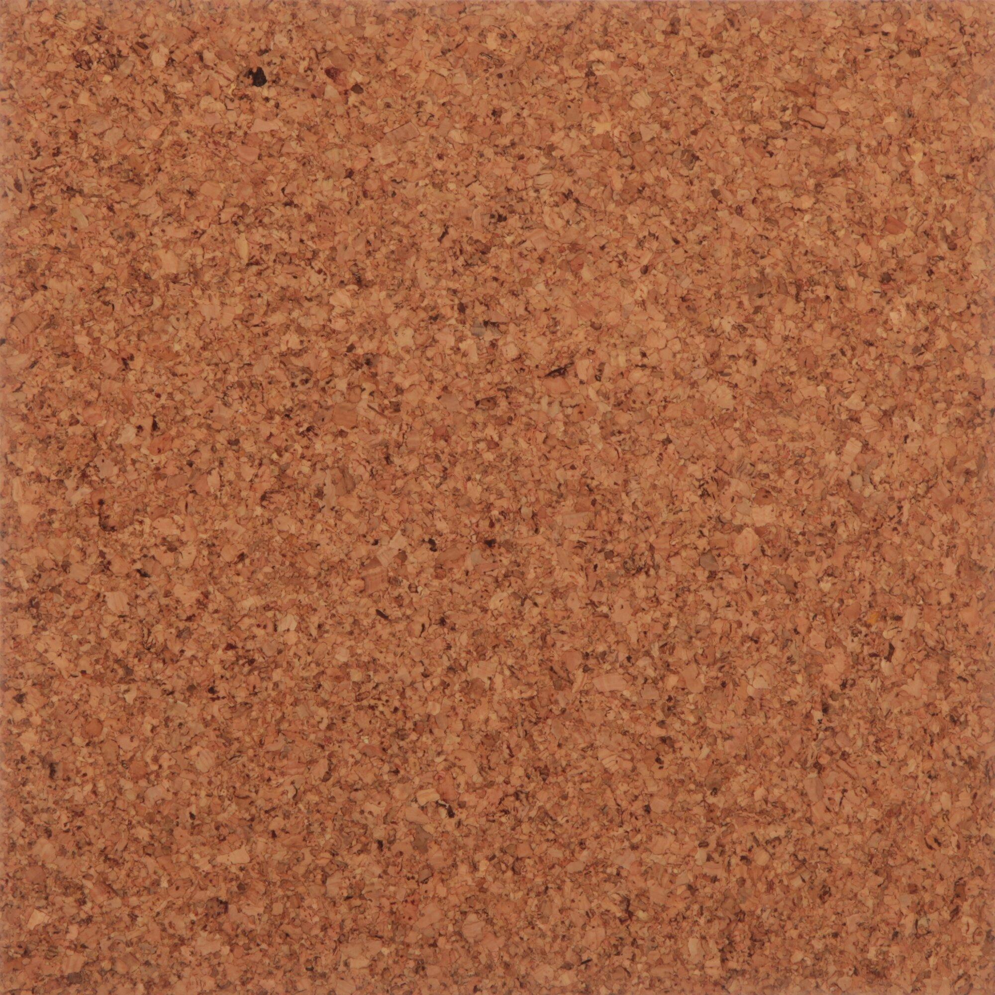 Natural cork floor tiles