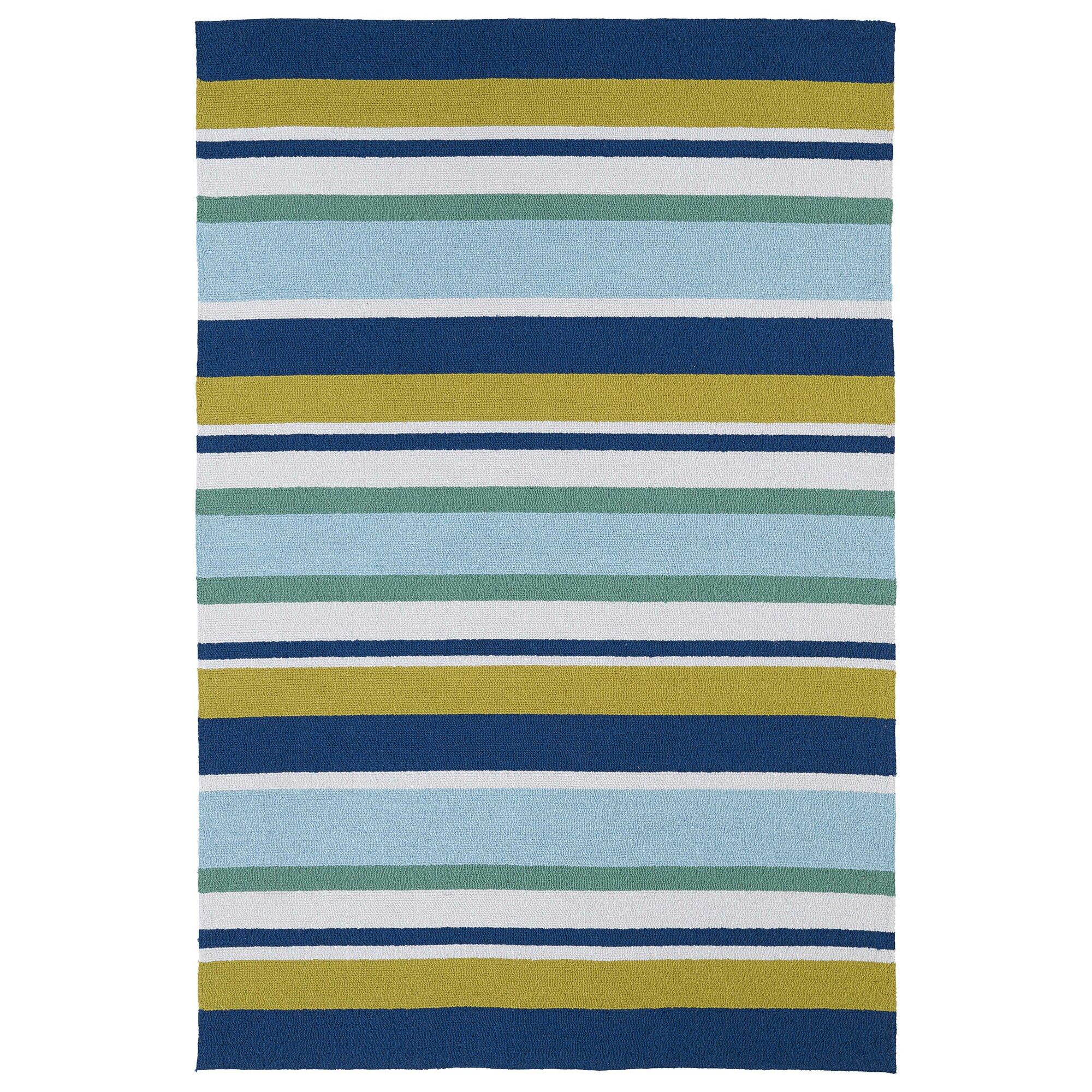 Striped indoor outdoor rugs