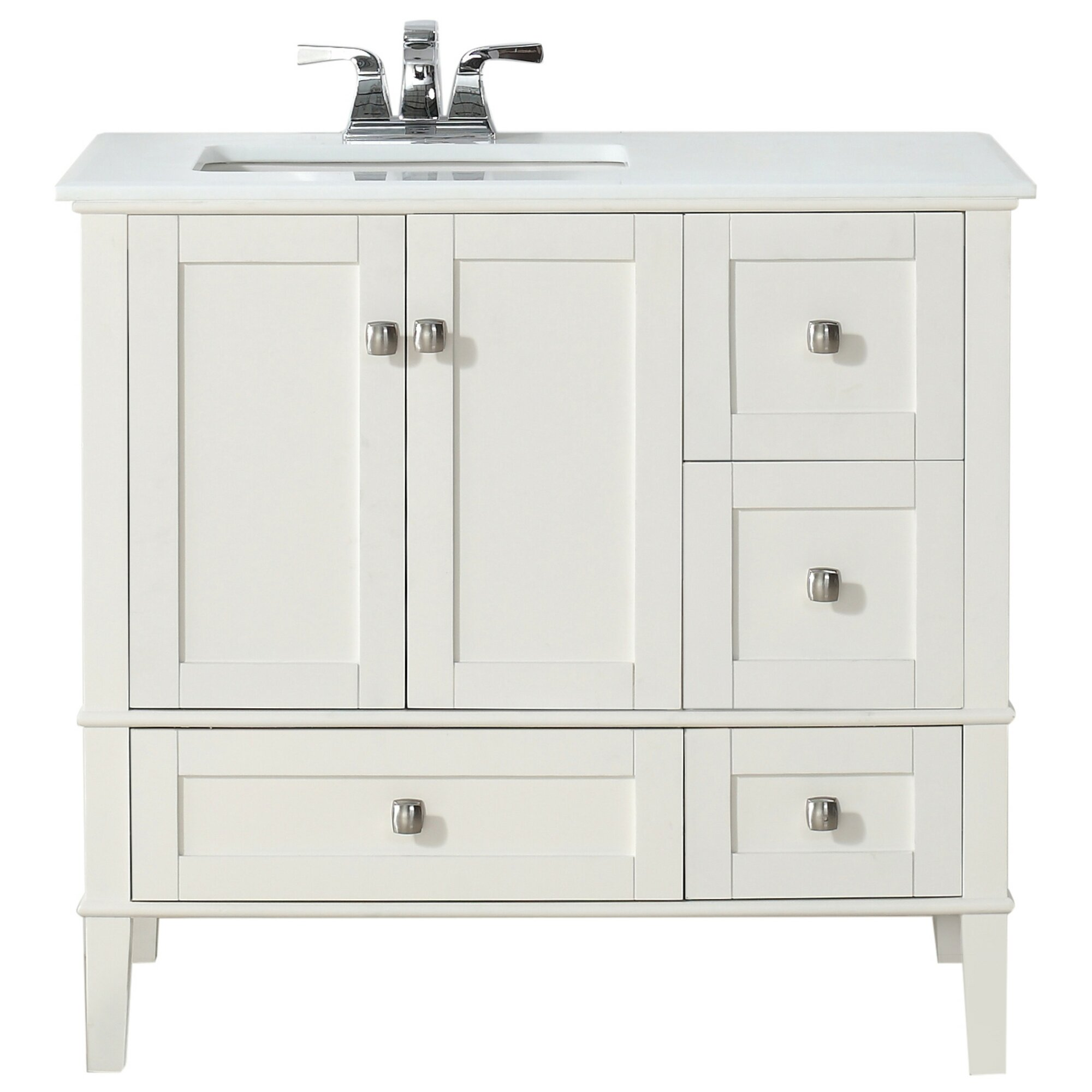 Offset bathroom vanity