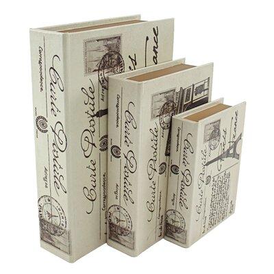 Aspire  Piece Paris Faux Book Box Set Reviews Wayfair