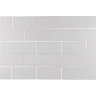 White ceramic subway tile