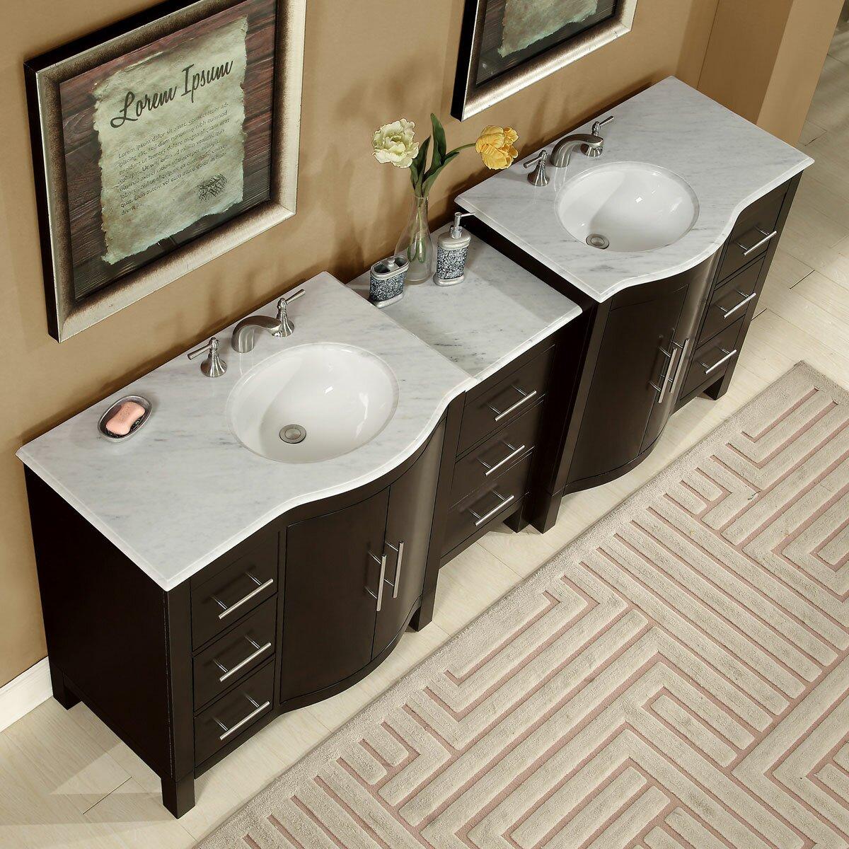 60 in double sink bathroom vanity