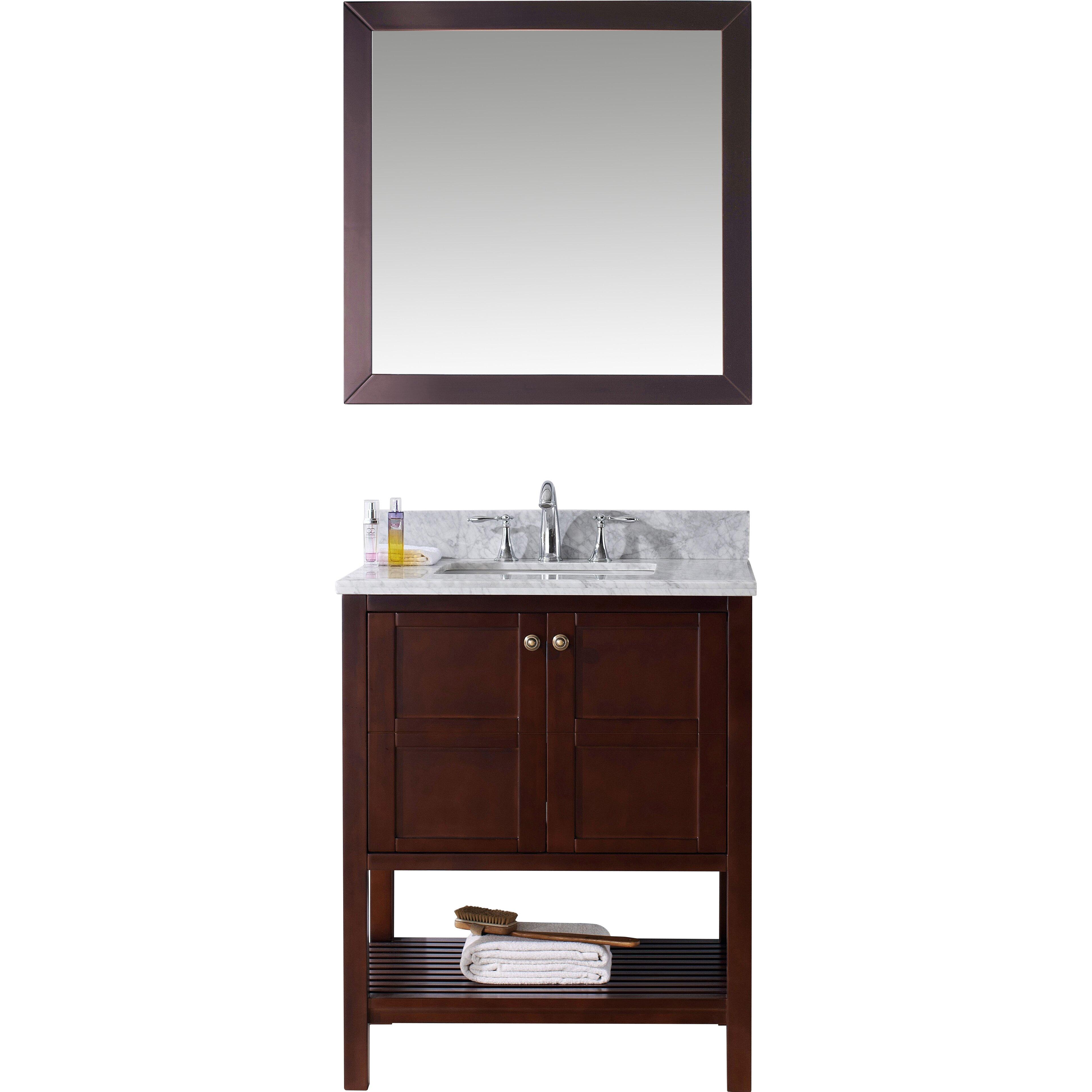 Virtu Winterfell  Single Bathroom Vanity Set With Mirror Reviews