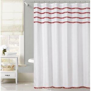 freya lace border shower curtain