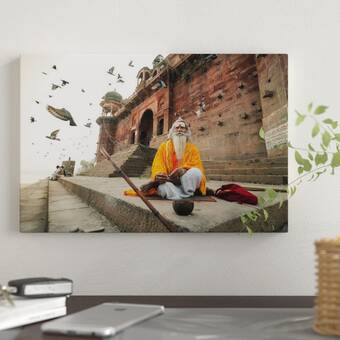 35fc62d8b17c East Urban Home 'The Pyramids of Egypt' Graphic Art Print on Canvas ...