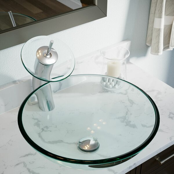 Merveilleux MRDirect Tempered Glass Circular Vessel Bathroom Sink U0026 Reviews | Wayfair