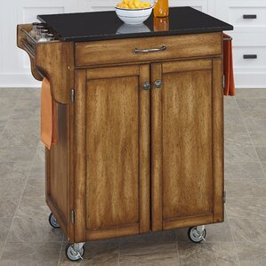 Savorey Granite Top Kitchen Cart by Augus..