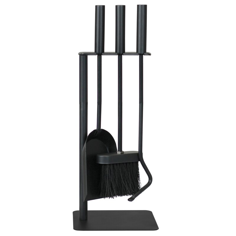 Ashley Hearth 4 Piece Cast Iron Fireplace Tool Set