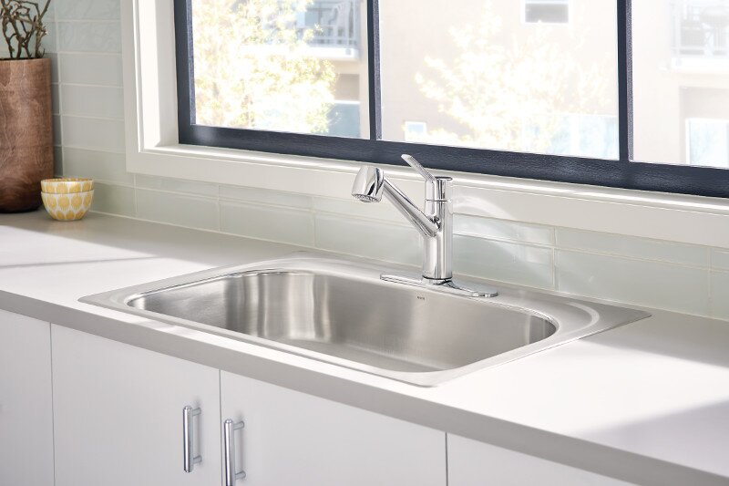 Moen Method Pull Out Single Handle Kitchen Faucet with Duralock™ and ...