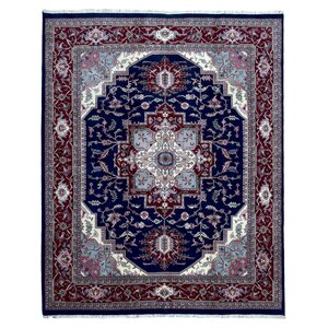 Gayle Serapi Hand-Woven Wool Blue/Brown Area Rug