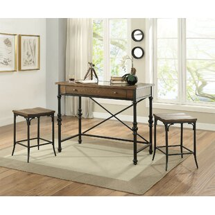 Leeper 3 Piece Counter Height Dining Set