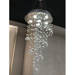 Crystal waterfall chandelier wayfair leiker 6 light waterfall chandelier aloadofball Gallery