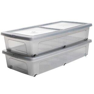 Plastic Underbed Storage ...  sc 1 th 225 & Plastic Underbed Storage Box (Set Of 2) By IRIS | Sale Price