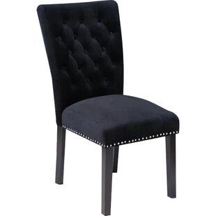 Bon Black Velvet Chairs | Wayfair