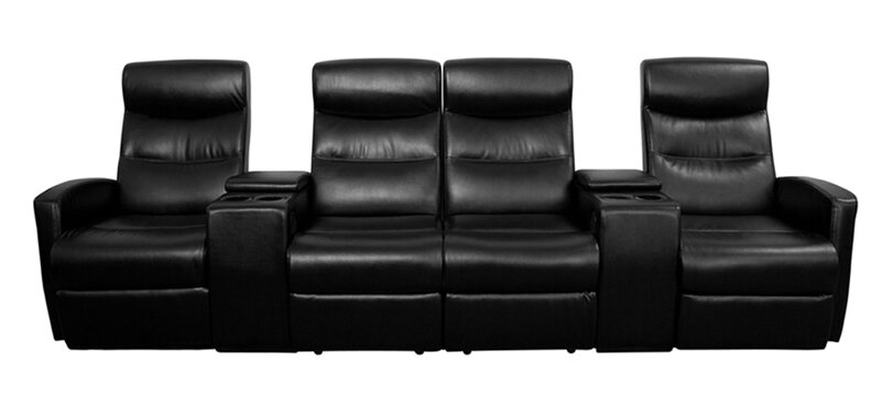 Etonnant 4 Seat Leather Home Theater Sofa