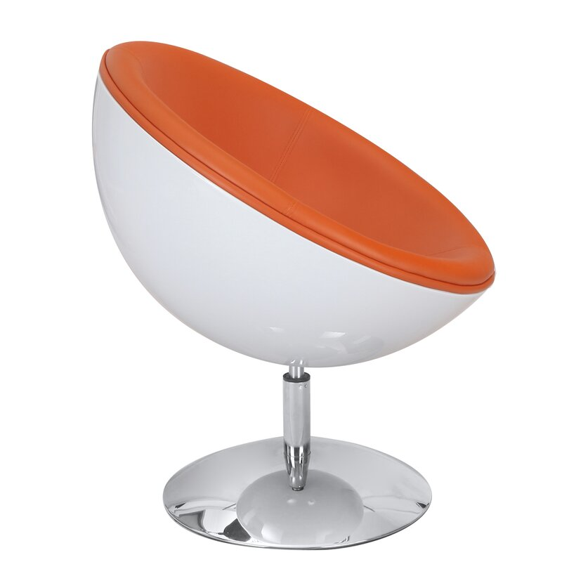 Egg Shaped Table adecotrading egg shaped leisure lounge chair | wayfair
