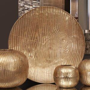 Textured Round Aluminum Tray