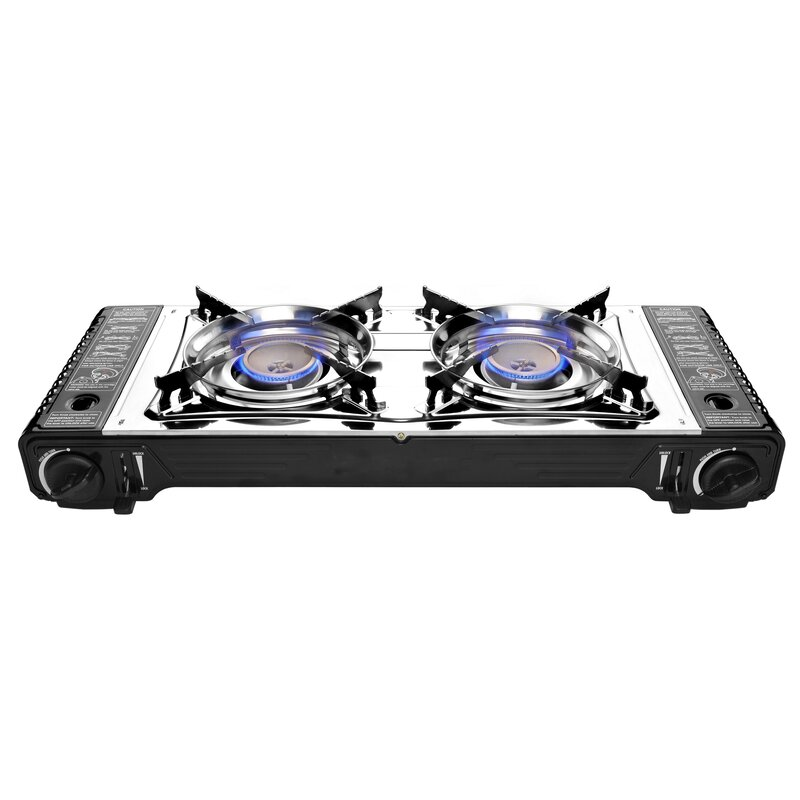 Portable 2 Burner Butane Outdoor Stove