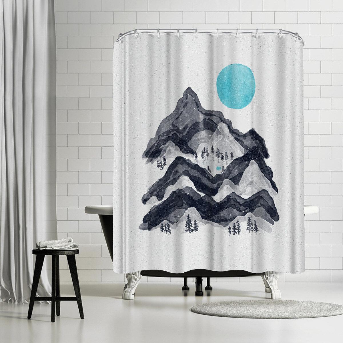 East Urban Home NDTank Sun In Moon Lake Shower Curtain