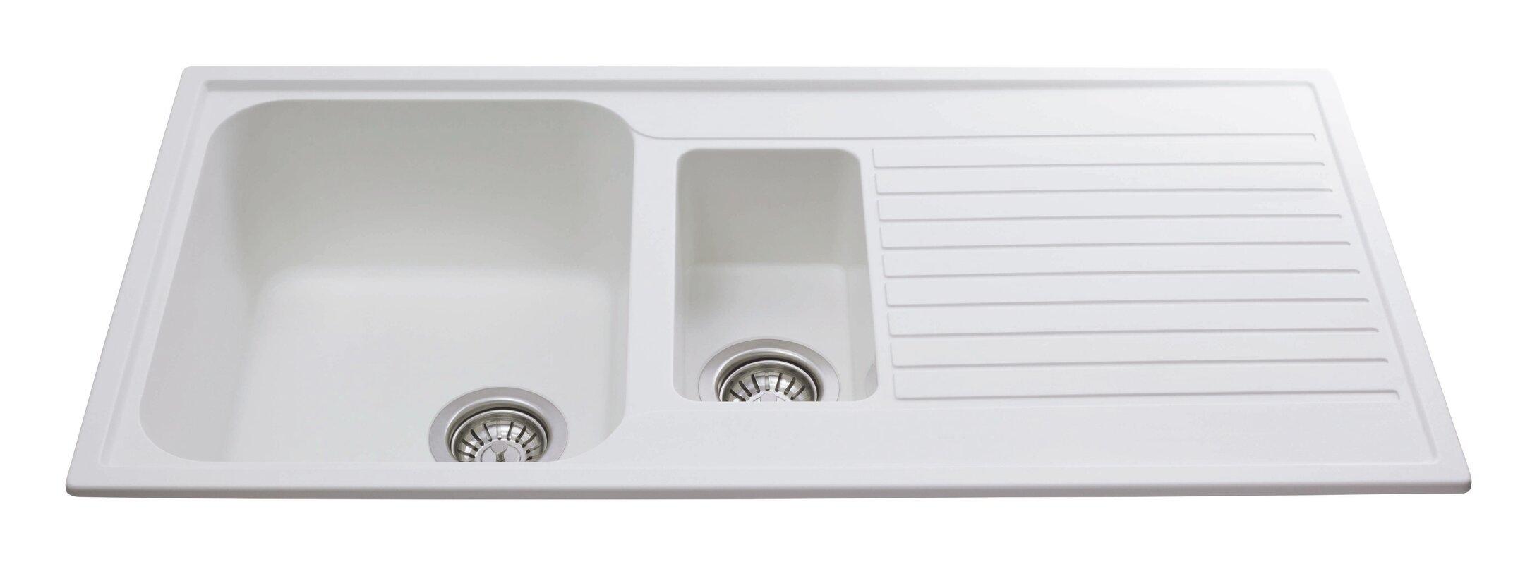 1.5 Bowl Kitchen Sink Cda 99cm x 50cm 15 bowl inset kitchen sink reviews wayfair 99cm x 50cm 15 bowl inset kitchen sink workwithnaturefo