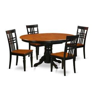 Emmaline 5 Piece Extendable Solid Wood Dining Set Savings