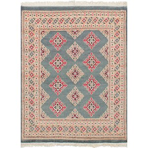 Lela Hand-Knotted Wool Gray Area Rug