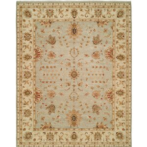 Royal Zeigler Hand-Knotted Beige/Gray Area Rug