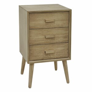 Baldwin Wood 3 Drawer End Table with S..