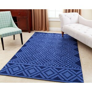 Luciana Hand Tufted Royal Blue Area Rug