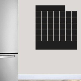Captivating Tyner Chalkboard Calendar Wall Decal