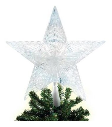Lighted Star Christmas Tree Topper