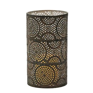 Scroll Work Pillar Metal Hurricane