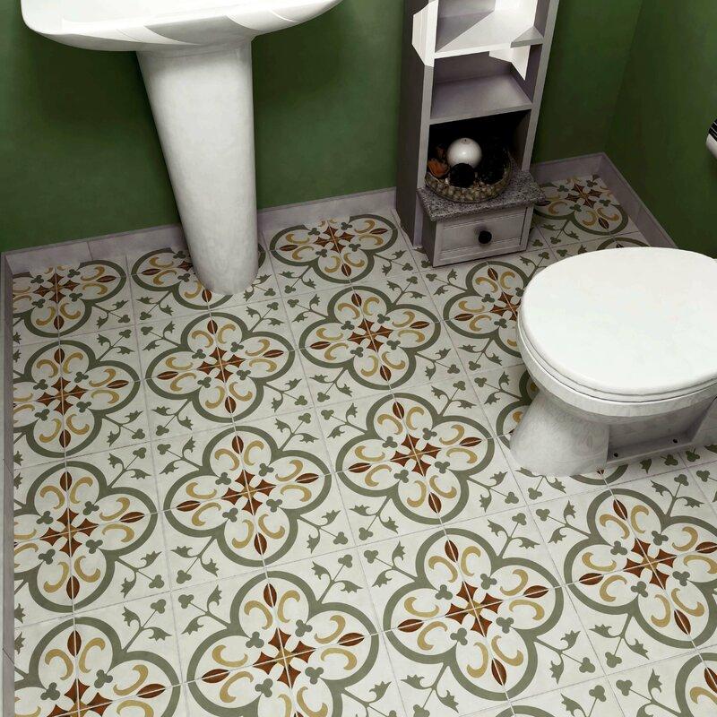 Elitetile Revive 7 75 Quot X 7 75 Quot Ceramic Field Tile In Sage