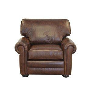 Fenway Studio Genuine Top Grain Leather Club Chair by Westland and Birch