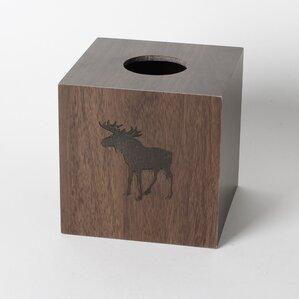 Silhouette Wildlife Tissue Box Cover