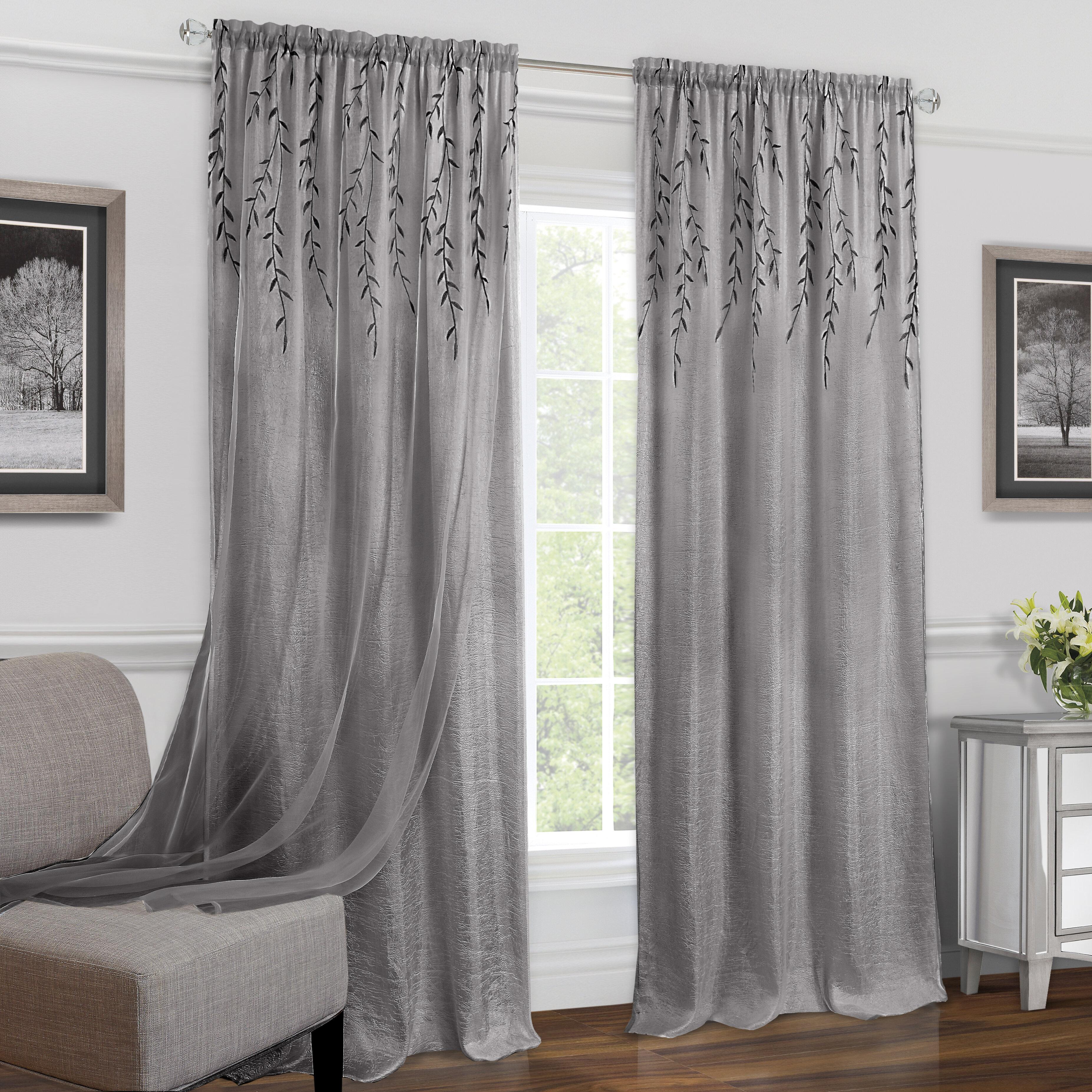 100 Inch Long Curtains Wayfair
